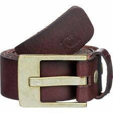 NEW* QUIKSILVER SURF BELT Buffalo Leather MENS M 34 Section Brown
