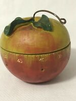 Vintage Kitchen Timer Painted Apple Boston Warehouse Works Tick Tock 60 Minutes