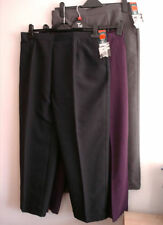 Straight Leg Polyester Plus Size Trousers BHS for Women