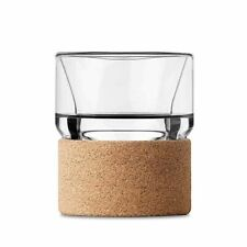 That! Inventions ChillGlass Double-Wall Highball Whisky Glass with Cork Sleeve