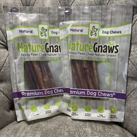 Lot Of 2 Nature Gnaws Bully Sticks - Premium Natural Beef Bones 11-12in (10ct)