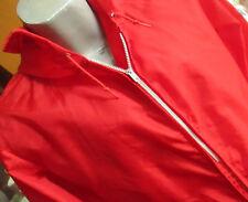 SMALL True Vtg 70's THIN BLOOD RED HOODY GOLF WINDBREAKER Jacket