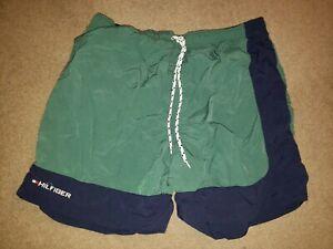 Tommy Hilfiger VTG Swim Trunks Shorts Swimsuit 90s Mens Extra Large XL Green