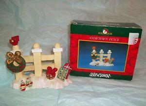 "KURT ADLER Christmas Town Village Accessory SNOWTOWN FENCE w/ Box 4""H x 5""W"