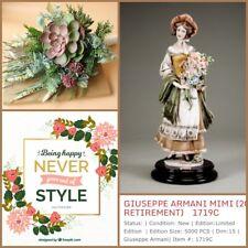"Guiseppe Armani Figurine ""Mimi"" #1719C 5000 Limited Edition Lady Flowers �Dress"