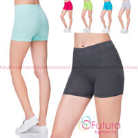 Womens Super Soft Cotton Shorts Elastic Stretch Yoga Sport Knickers UK 8-22 PSL5