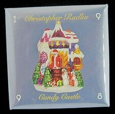 1998 Christopher RADKO Candy Castle Large Button PIN