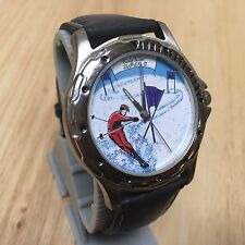 Nicole Miller NM Sports Swiss Movt Italy Leather Quartz Watch Hours~New Battery