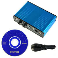 6 Channel 5.1 Audio External Optical Sound Card Adapter For PC Laptop Applied