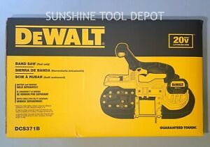 DeWalt 20V MAX 15 in. Cordless Lithium-Ion Band Saw DCS371B New (Tool Only)