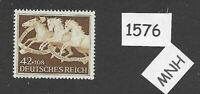 MNH stamp / 1942 Brown Ribbon Horse race / Third Reich era / Munich Germany