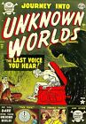 Journey Into Unknown Worlds 12 Comic Book Cover Art Giclee Repro on Canvas
