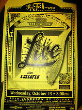 """1999 LIVE w/ CYCLEFLY """"THE DISTANCE TO HERE TOUR"""" DENVER CONCERT POSTER"""