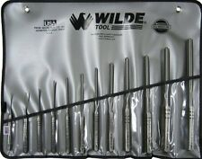 Wilde Tool RS912.NP 12pc Professional Roll Pin Punch Set w/ Roll Case USA