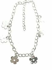 Girls Ankle chain Silver Colour with trailing daisy charms Festival Wedding