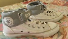 White Converse All Star high tops trainers plimsoles size 5 uk Ladies.