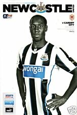Newcastle Utd v Cardiff City Football Programme FA CUP 3rd ROUND 04-01-2014