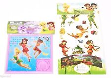 2 LOT - TINKERBELL DISNEY GREAT FAIRY RESCUE TOY SLIDE FAIRIES PUZZLE + STICKERS