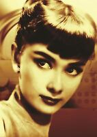 AUDREY HEPBURN YOUNG ICON ACTRESS POSTER ART PRINT A3 SIZE GZ2133