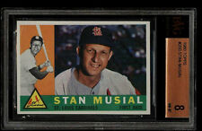 1960 TOPPS #250 STAN MUSIAL BVG 8 NM-MT HOF CARDINALS SUBS(8.5 8.5 8 8)OLD LABEL