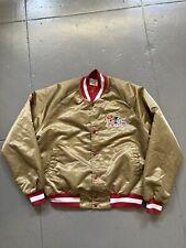 Vintage 80s Chalkline SF San Francisco 49ers Niners Satin Starter NFL Jacket