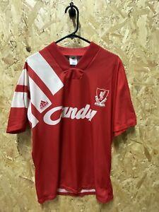 Original 1991/92 Liverpool adidas Home Shirt Red and White Size Medium