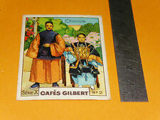 CHROMO 1936 CAFES GILBERT COSTUMES CIVILS CHINOIS CHINE CHINA 中華人民共和國