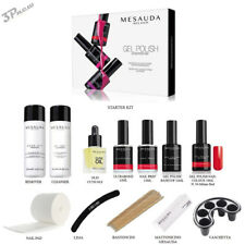 MESAUDA STARTER KIT GEL POLISH 14 ML SMALTO SEMIPERMANENTE UNGHIE + ACCESSORI