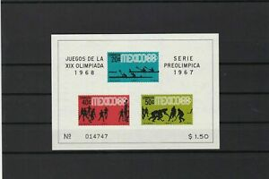 mexico 1967 olympics  mint never hinged stamps sheet ref r12600