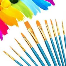 10Pcs Art Paint Brush Artist Brushes Set Fine Pointed For Water Painting Color
