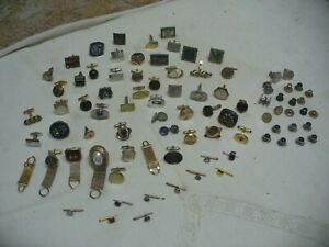 Vintage Cufflink Lot Mixed Gold & Silver Tone Singles