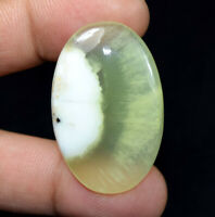 Peru Prehnite 100% Natural Cabochon 57.25 Cts. Oval Loose Gemstone