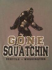 "Bigfoot ""Gone Squatchin'� Small Green Graphic T-Shirt Fast Free Shipping"