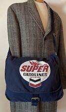 SUPERDRY - Navy Blue Canvas Haversack Shoulder Crossbody Bag UNISEX Large