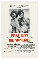 Motown: Diana Ross & Supremes at Brown University Concert Poster 1969 12x18