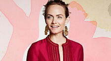H&M Conscious Gold Effect Amber Valletta Pendant Earrings for Pierced Ears