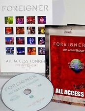 Foreigner - 25 CONCERT DVD NEW! FREE SHIP! ALL ACCESS 2002 TOUR ,LIVE,XBOX ,PS2