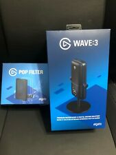 Elgato Wave:3 Premium USB Condenser Microphone with Pop Filter