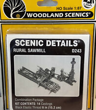 HO/HOn3 Scale Woodland Scenics 'Rural Sawmill' KIT, Item #D243