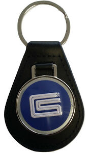 Carroll Shelby CS Keyring Leather Fob AC Cobra GT350 GT500 1964 1965 1966 1967