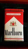 Pack Of Marlboro Red Box Cigarette CAJA Estuche Funda Can Collector Vintage Lata