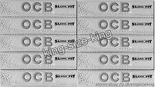 OCB Silver Slim King Size Rolling Papers Kingsize Paper Set x10