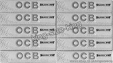 OCB Silver Slim King Size Rolling Papers Kingsize Paper Set x10