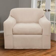 Maytex Reeves Stretch 2-Piece Chair Furniture Cover / Slipcover Natural