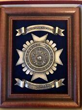 Firefighting pewter award plaque - Firefighter award - Fireman plaque - Cdn Fire
