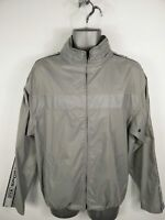 MENS NX SPORT GREY ZIP UP LIGHTWEIGHT SHELL COAT JACKET HOODED SIZE S SMALL