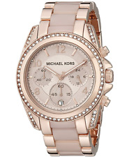 New Michael Kors Womens MK5943 Crystal Blair Pavé Rose Gold-Tone Ladies Watch