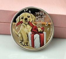 New Year Gifts 2018 Year of The Dog Silver Coins Child Souvenir Coin Metal Craft