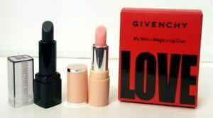 GIVENCHY My Mini Magic Lip Duo - 01 Perfect Pink & 16 Noir/Black Revelateur LOVE