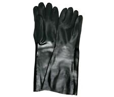 """MCR Safety 6528S 18"""" Black PVC Chemical Resistant Gloves Size Large - 12 Pairs"""